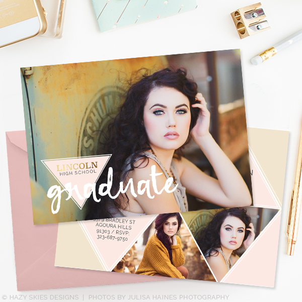 High School Graduation Announcement Templates Photographers ...