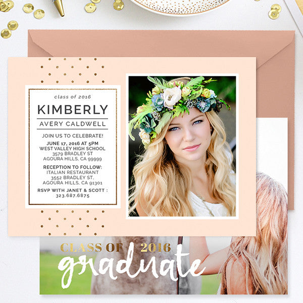 Senior Graduation Announcement Template For Photoshop  Photoshop