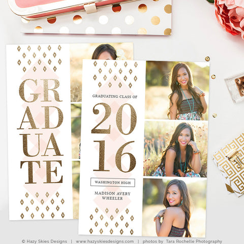 Senior Photo Card Templates for Photographers, Senior Photoshop ...