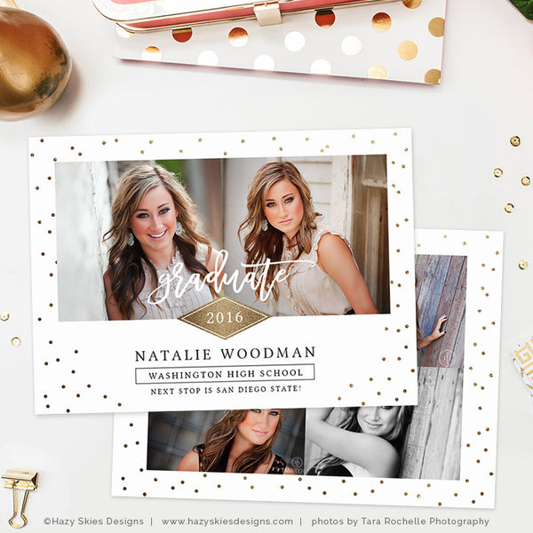 Senior Graduation Announcement Template | Golden Future