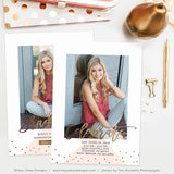Senior Announcement Template | Gold Grad