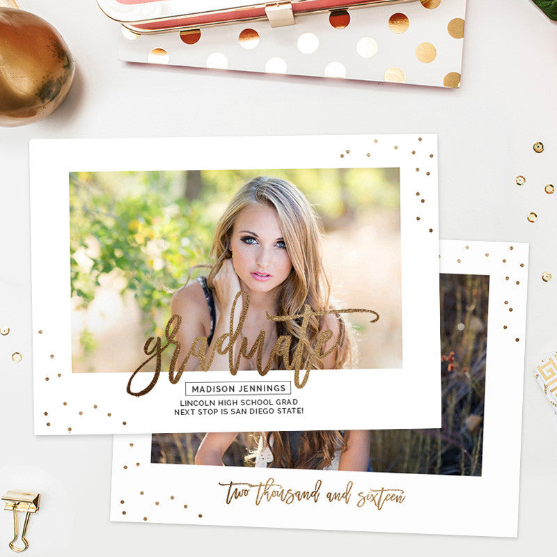 Senior Graduation Announcement Template Senior Template