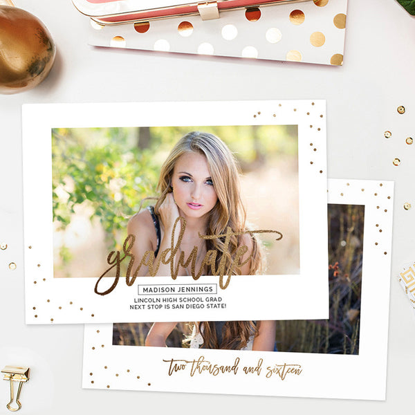 Senior Announcement Template | Shine