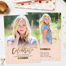 Senior Graduation Announcement Template | Confetti Party