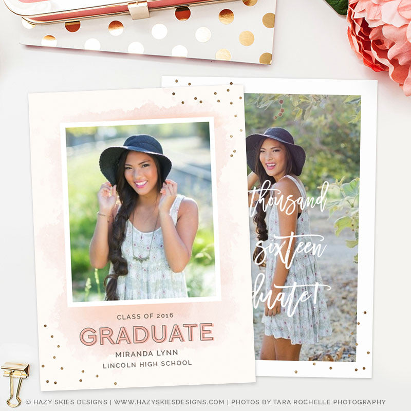 Senior Templates for Photographers Graduation Template Photoshop – Graduation Announcement Template