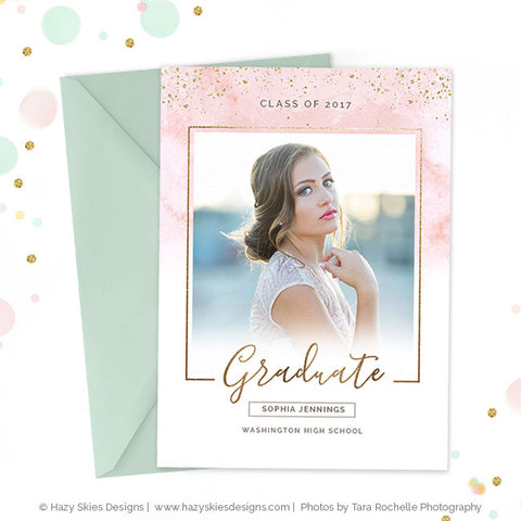 High School Graduation Announcement Template | Shimmer