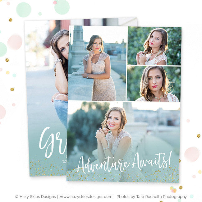 Senior Graduation Announcement Templates for Photographers Photoshop ...