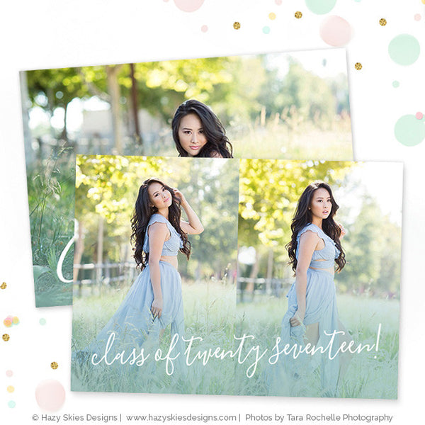 Senior Graduation Card Template | Graduating Class Of...