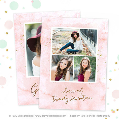 Senior Graduation Invitation Template | Chic Grad