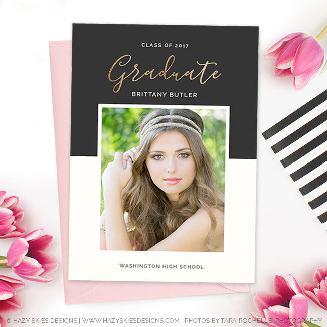 High School Graduation Invitation Template For Photographers Gd160