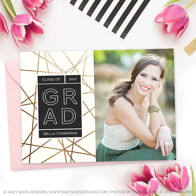 High School Graduation Invitation Template For Photographers Gd161