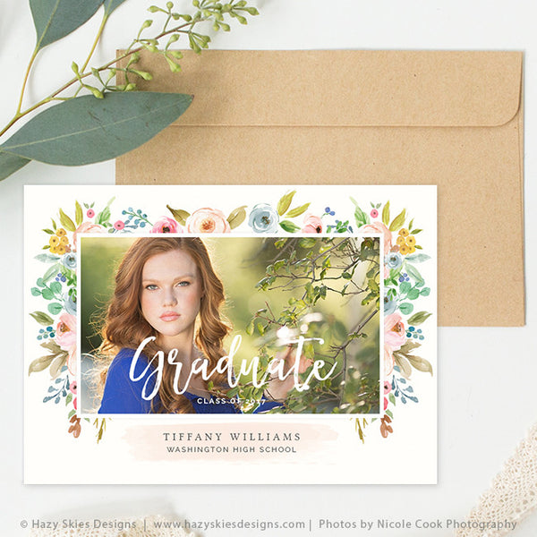 Senior Graduation Announcement Template | Flourish