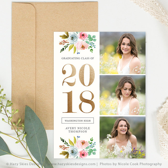 Senior Graduation Announcement Template | Fleur