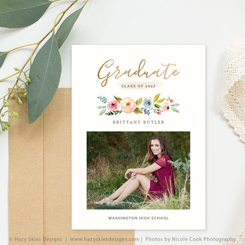 High School Graduation Announcement Template | Blossom