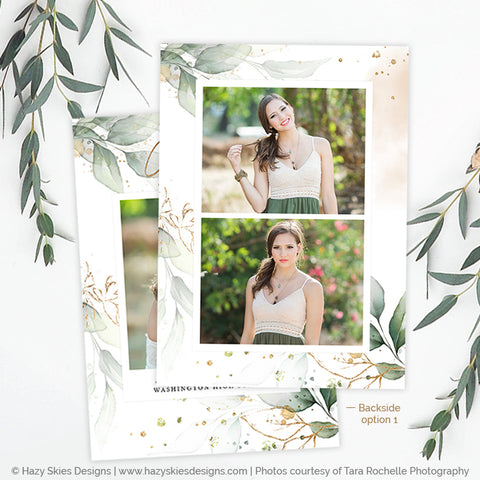 Graduation Announcement Template | Botanical & Blush