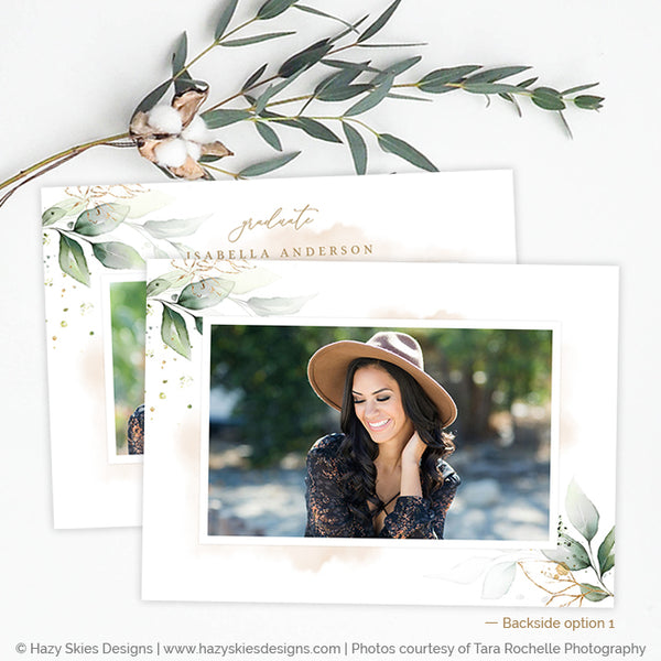 Graduation Announcement Template | Gold Leaf