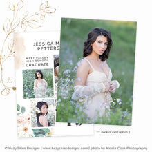 Senior Graduation Card Template | Floral Fashionista