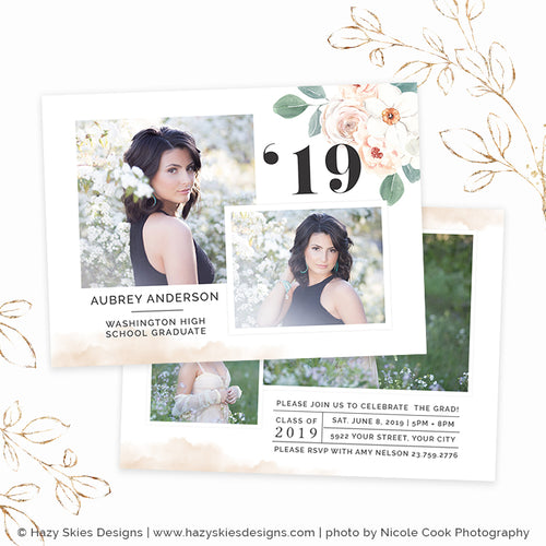 Senior Graduation Card Template Digital | Couture