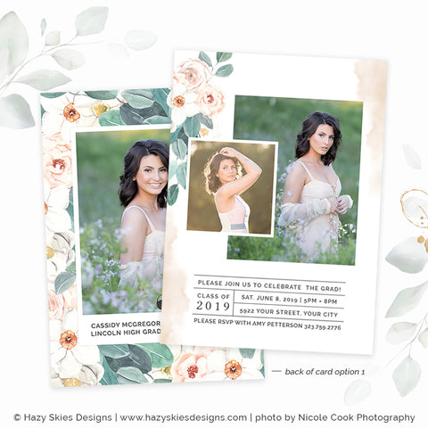 Senior Graduation Card Template | Darling Daffodil