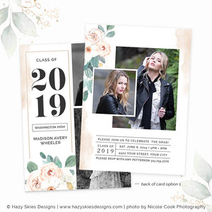 Senior Graduation Card Template Digital | Opulent