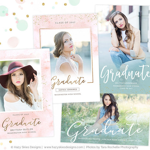 Senior Graduation Announcement Templates | Twenty 17