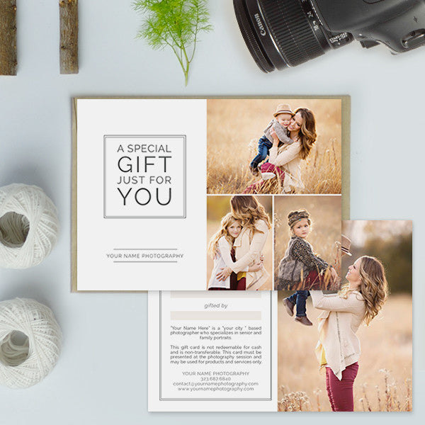 ... Photography Studio Gift Certificate Templates | Gift Me ...