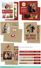 Christmas Card Templates | Kraft Christmas