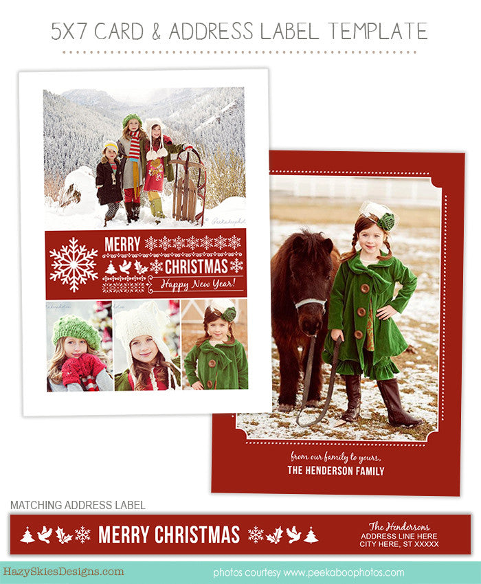 Christmas Card Template For Photographers Photoshop Templates For - Christmas card templates for photographers