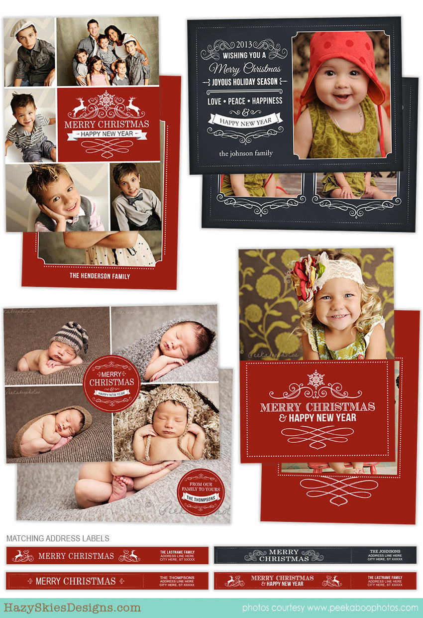 Christmas Card Template for Photographers | Classic ...