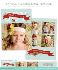 Holiday Card Template for Photographers