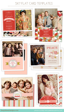 Christmas Card Templates for Photographers | Merry & Bright
