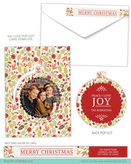 Luxe Pop Card Template for Photographers - Holiday Foliage