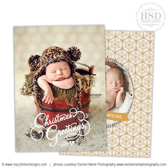 Christmas card templates for photoshop photo overlay cards for Holiday cards templates for photographers
