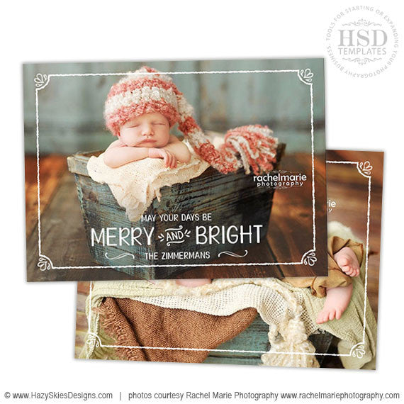Christmas Card Template  | Christmas Overlay