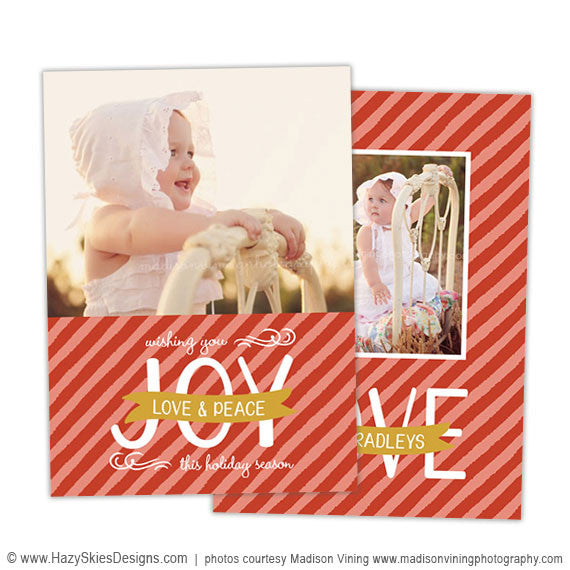 holiday card template love - Holiday Card Templates