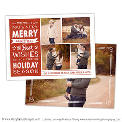 Christmas Card Template |  Typography