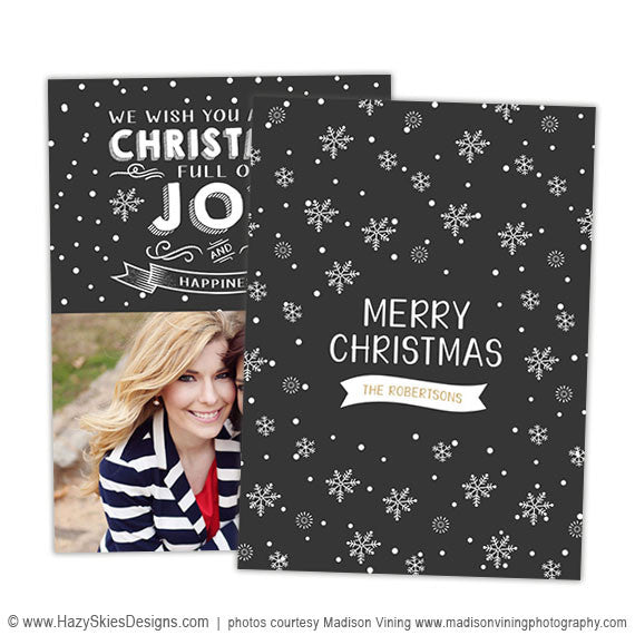 Christmas Card Template for Photographers | Warm Wishes