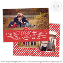 Holiday Card Template for Photographers | Calligraphy