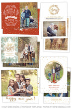 Christmas Card Templates | Winter Wishes Collection