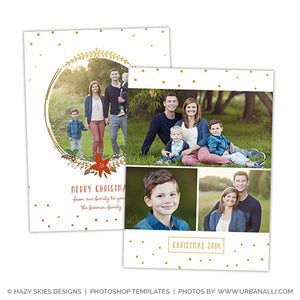 Christmas Card Photoshop Template | Deck the Halls