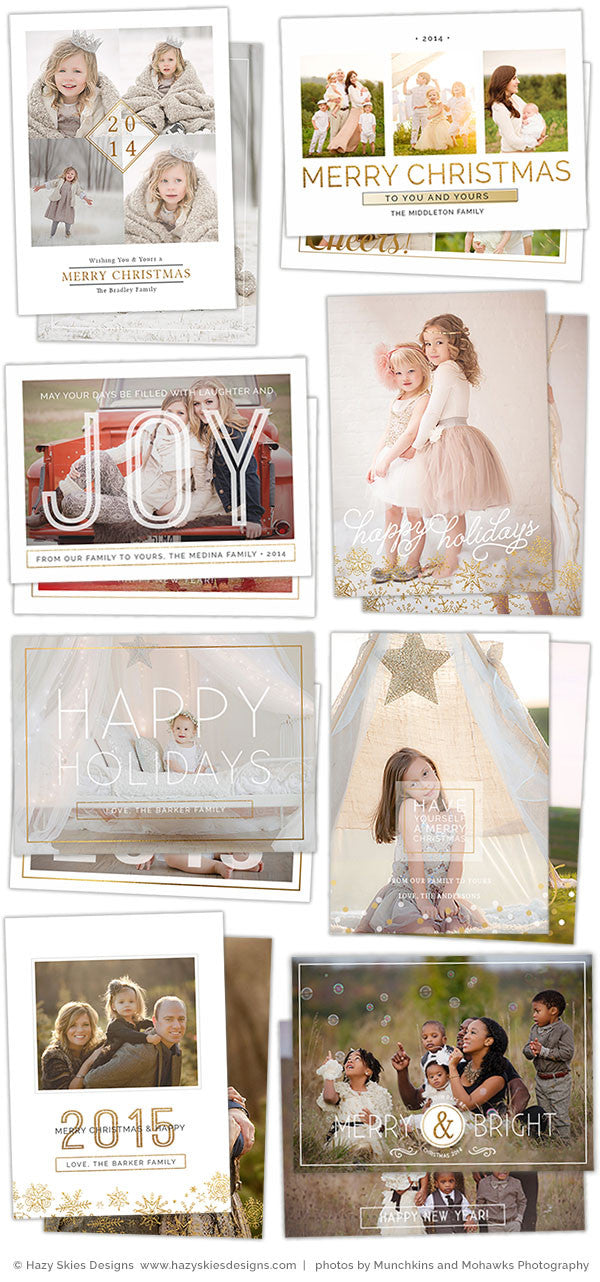 Christmas Card Templates for Photoshop, Templates for ...