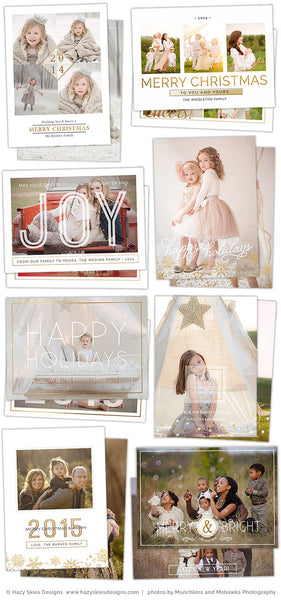 Photoshop Card Templates | Merry Minimalist Collection