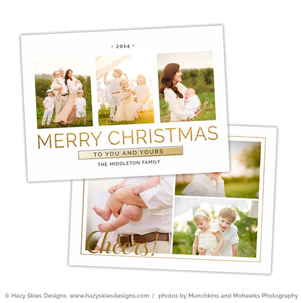 Christmas Card Photoshop Template | Aglow
