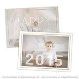 Photoshop Card Template | Happy Holidays + New Year