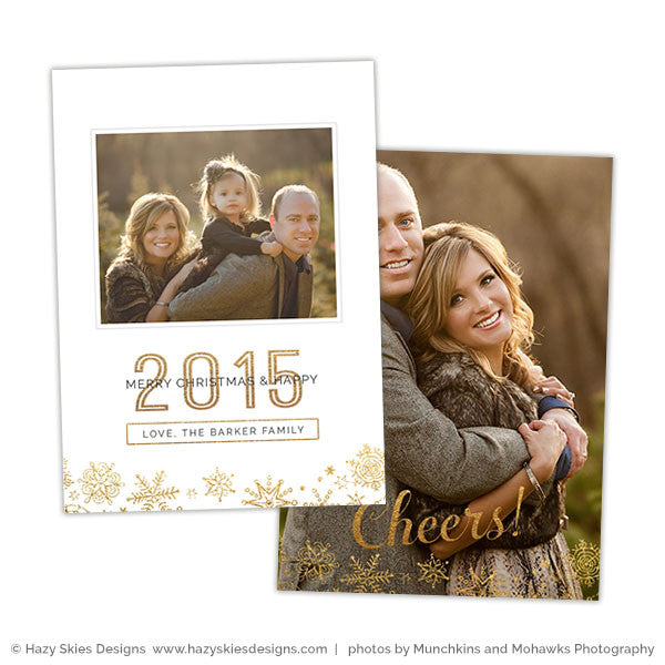 Photoshop Card Template | Clean Merry Christmas