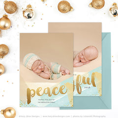 Holiday Card Template | Peace