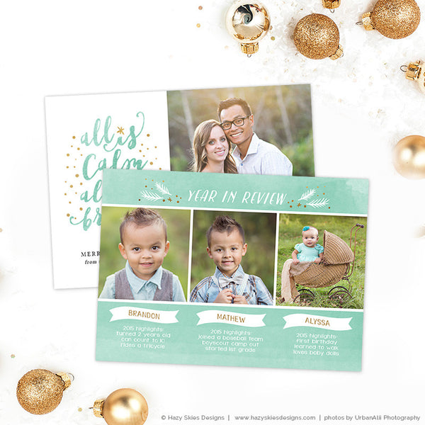 Christmas Card Template | Year in Review