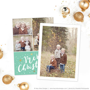 Christmas Card Template | Merry Mint