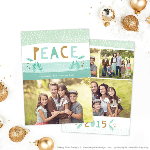 Christmas Card Templates | Merry Mint Collection
