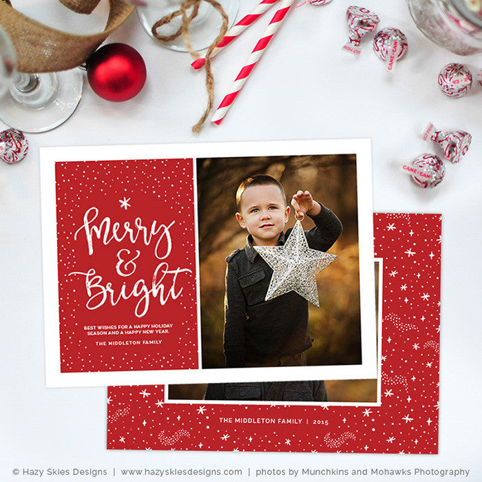 DIgital Christmas Card Templates for Photoshop HC288 – Photoshop ...